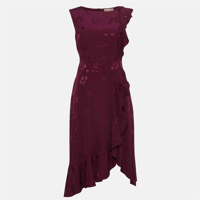 Phase Eight Reese Frill Dress Damson