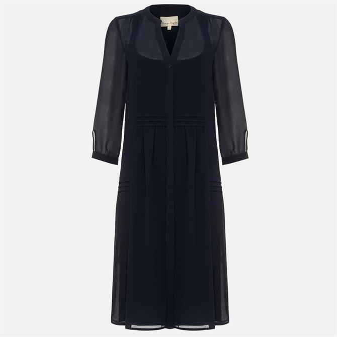 Phase Eight Remee Chiffon Dress Navy