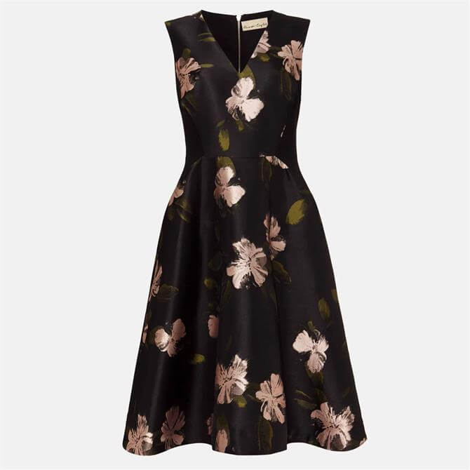 Phase Eight Sandy Floral Jacquard Dress