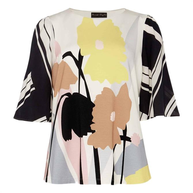 Phase Eight Silvie Floral And Stripe Print Top