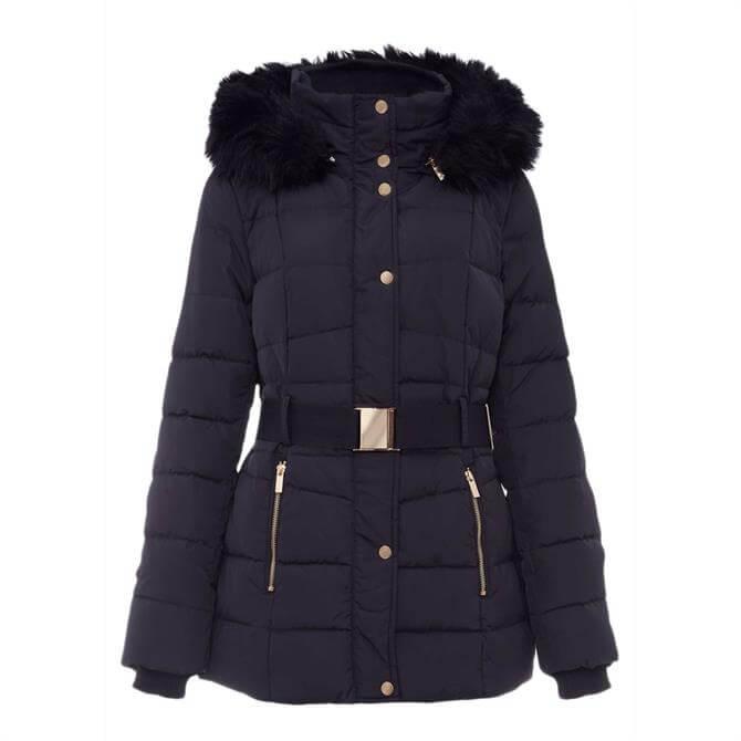 Phase Eight Vicky Velvet Trim Short Puffer Coat