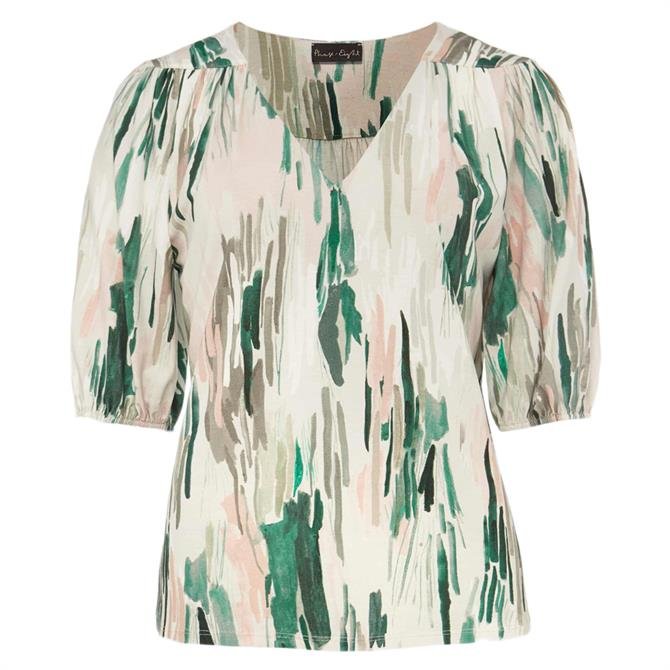 Phase Eight Zola Abstract Print Top
