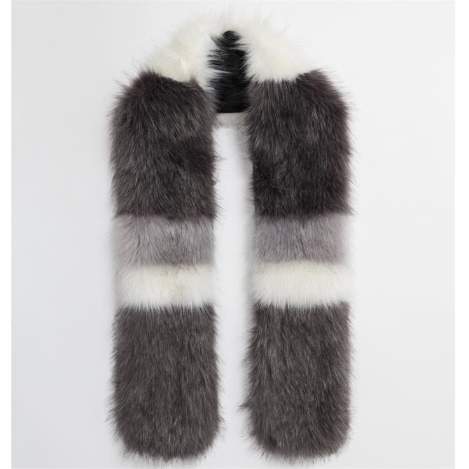 Pia Rossini Lori Faux Fur Striped Scarf