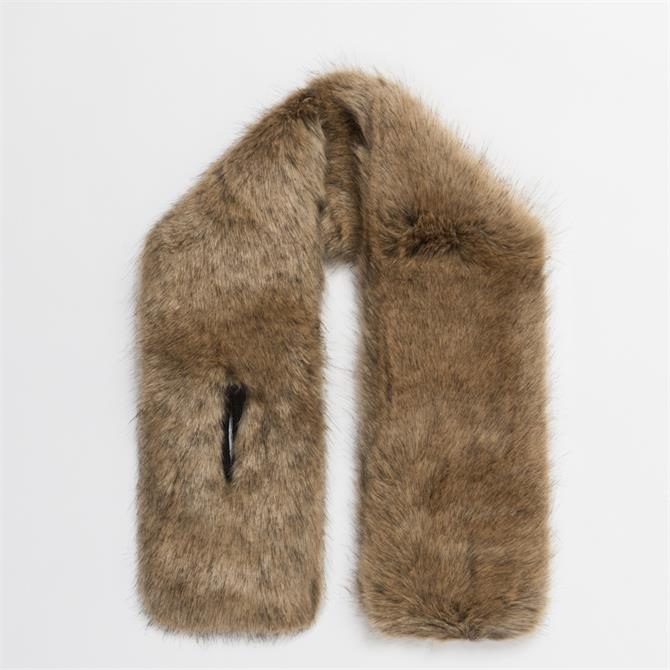 Pia Rossini Monroe Faux Fur Collar