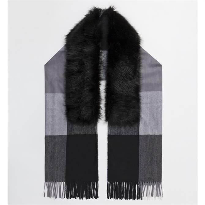 Pia Rossini Nolan with Faux Fur Trim