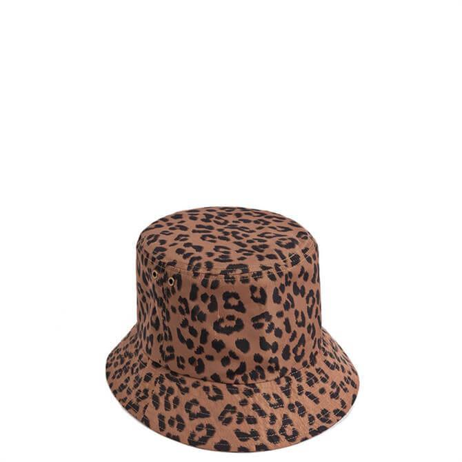 Pia Rossini Charise Leopard Print Bucket Hat