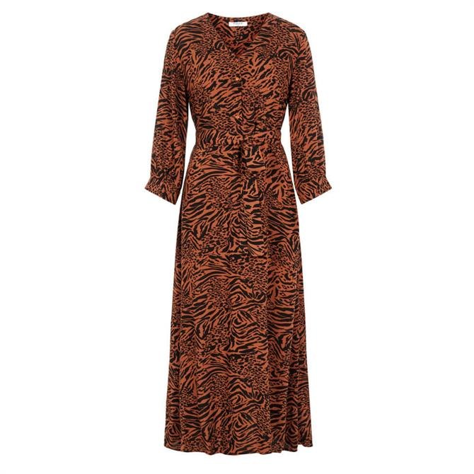 Pieces Brenna Animal Print Maxi Dress