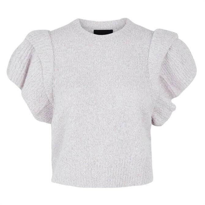Pieces Frill Knit Vest Top