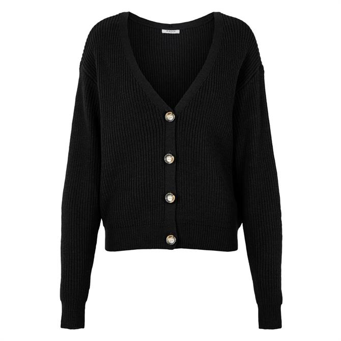 Pieces Karie Horn Button Front Cardigan