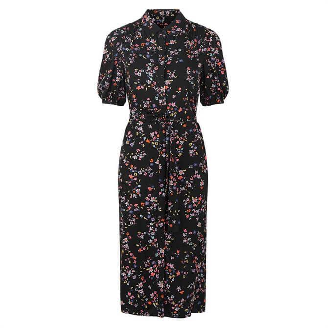 Pieces Lala Floral Midi Shirt Dress