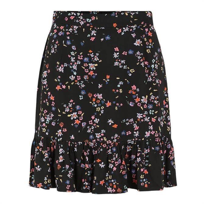 Pieces Lala Floral Mini Skirt