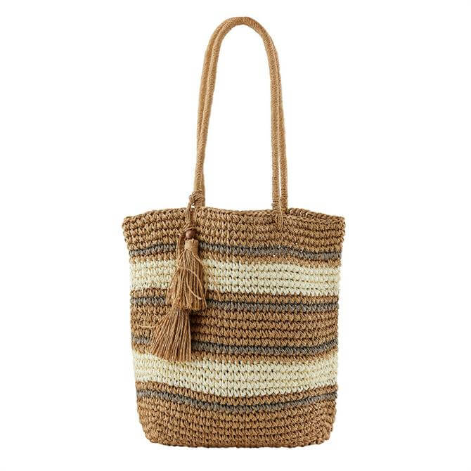 Pieces Leona Straw Shopper Bag