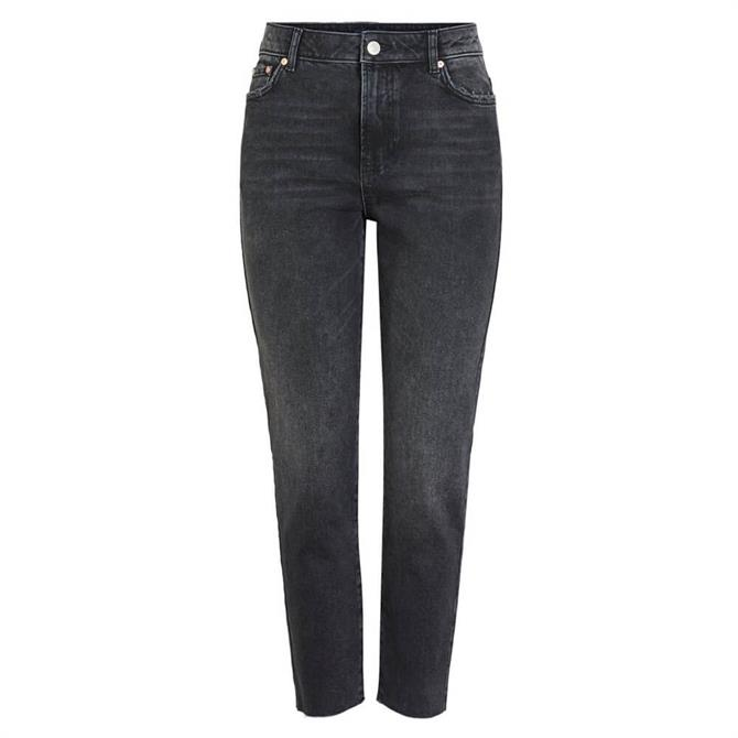 Pieces Nima Straight High Rise Jeans