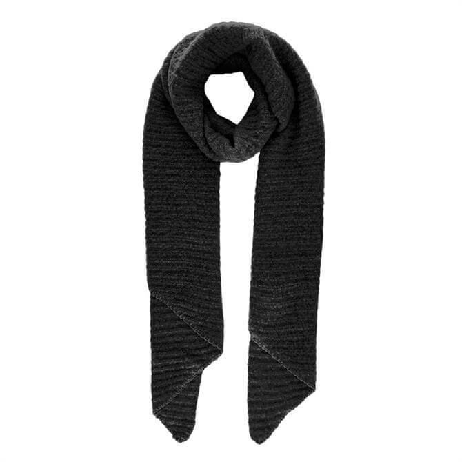 Pieces Pyron Rib Knit Long Scarf