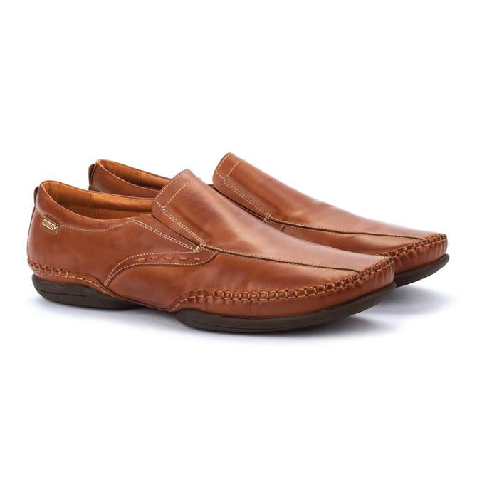Pikolinos Puerto Rico Brown Leather Moccasins