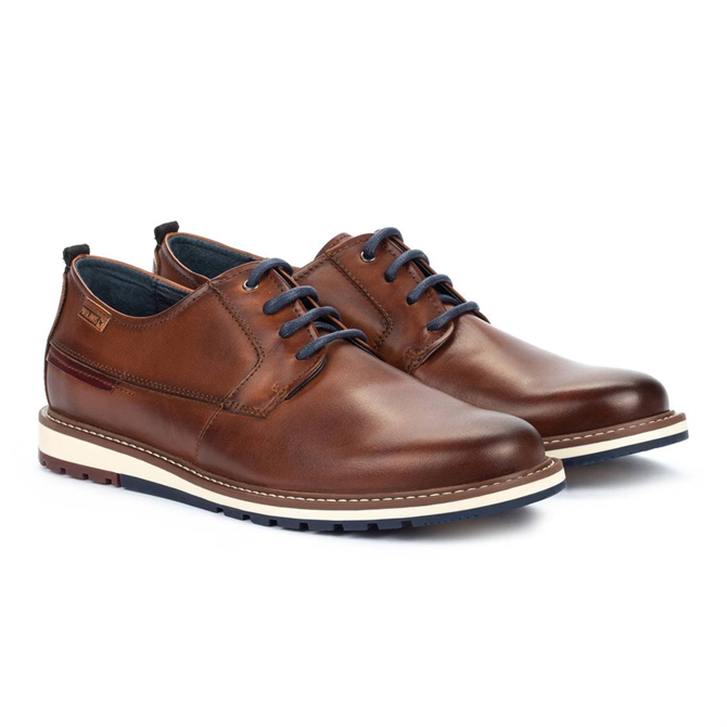 Pikolinos Berna Brown Leather Lace Up Shoe
