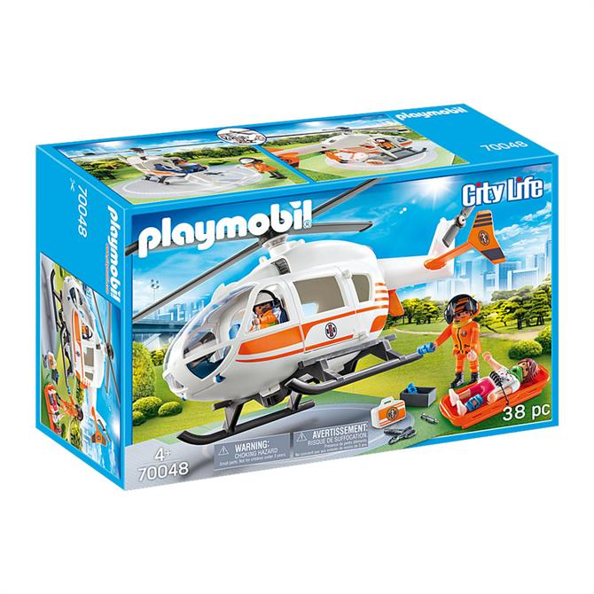 Playmobil City Life Rescue Helicopter 70048
