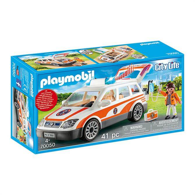 Playmobil City Life Emergency Car with Siren and Lights 70050