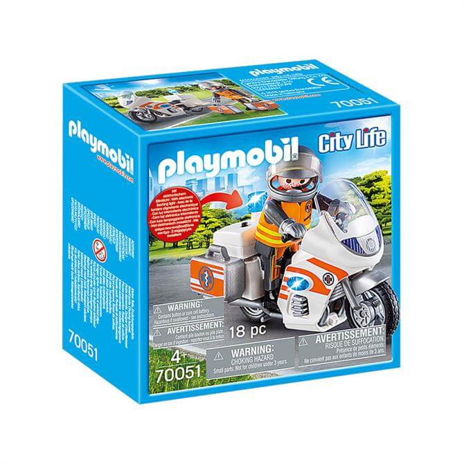 Playmobil City Life Emergency Motorbike 70051