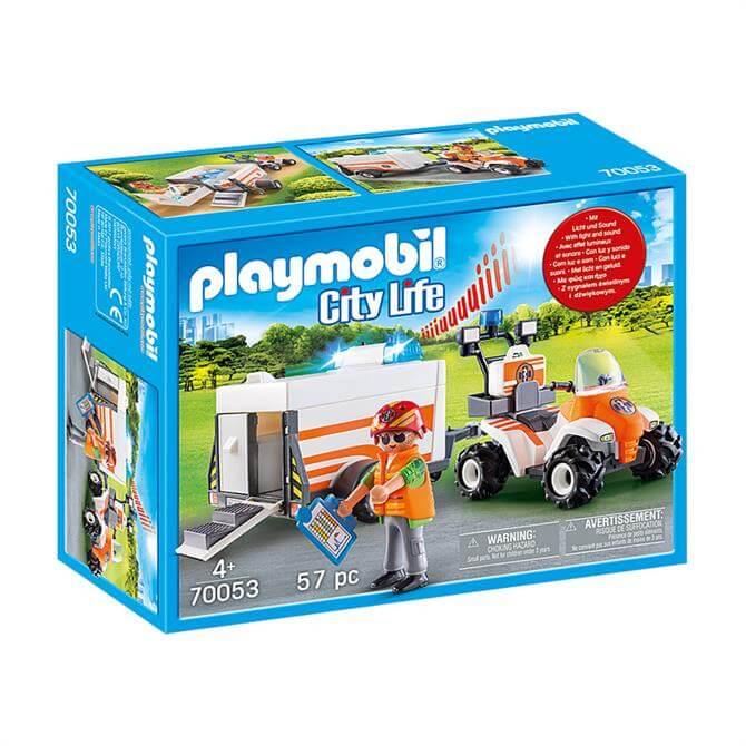 Playmobil City Life Rescue Quad with Trailer 70053