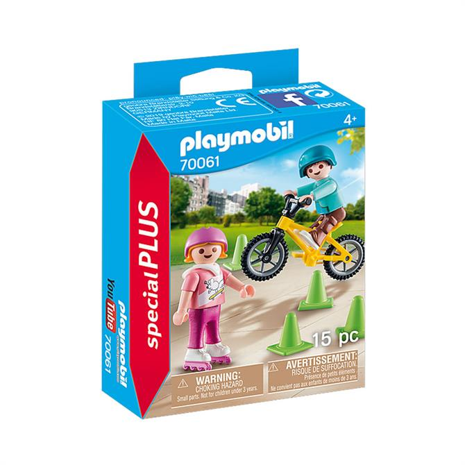Playmobil Special PLUS Children with Skates and Bike 70061