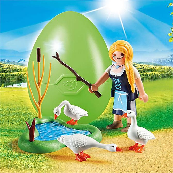 Playmobil Maiden with Geese Gift Egg Set 70083