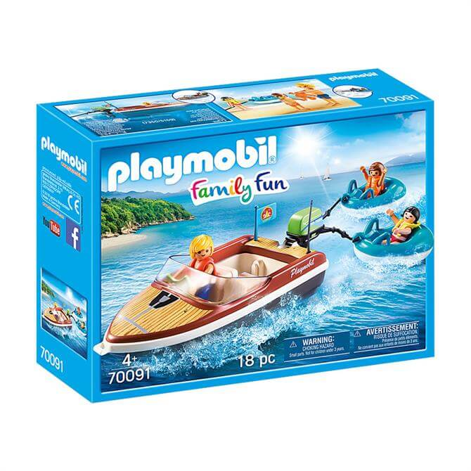 Playmobil Family Fun Speed Boat with Tube Riders 70091