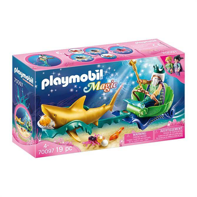 Playmobil Magic King of the Sea with Shark Carriage 70097