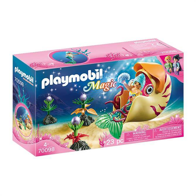 Playmobil Magic Mermaid with Sea Snail Gondola 70098