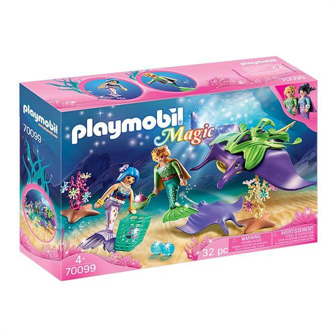 Playmobil Magic Pearl Collectors with Manta Ray 70099 Set