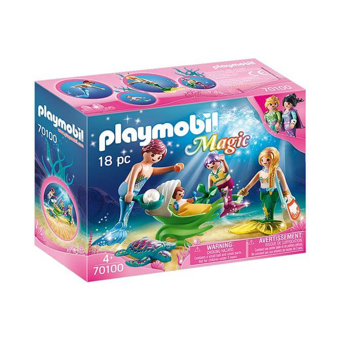 Playmobil Magic Family with Shell Stroller 70100