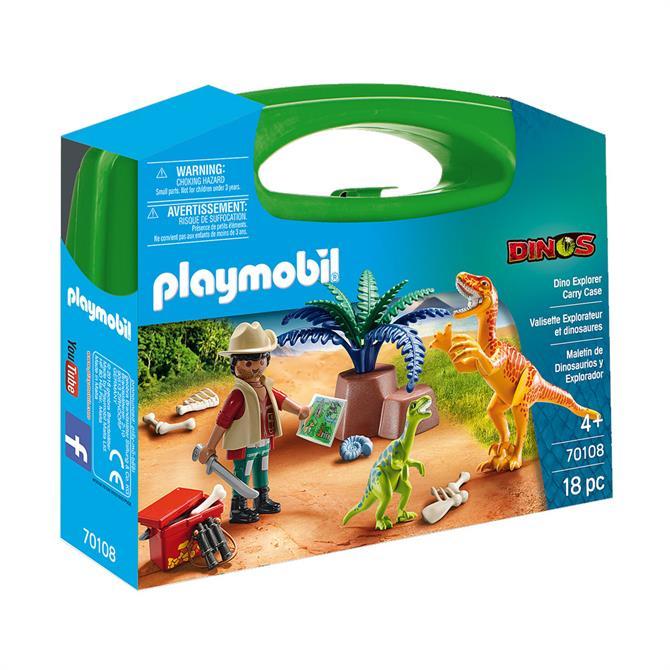 Playmobil Dino Explorer Carry Case 70108
