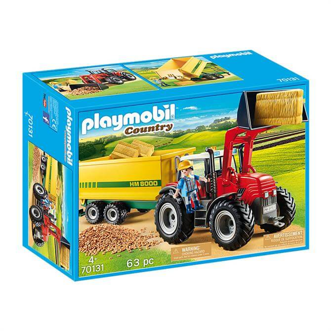 Playmobil Country Tractor with Feed Trailer 70131