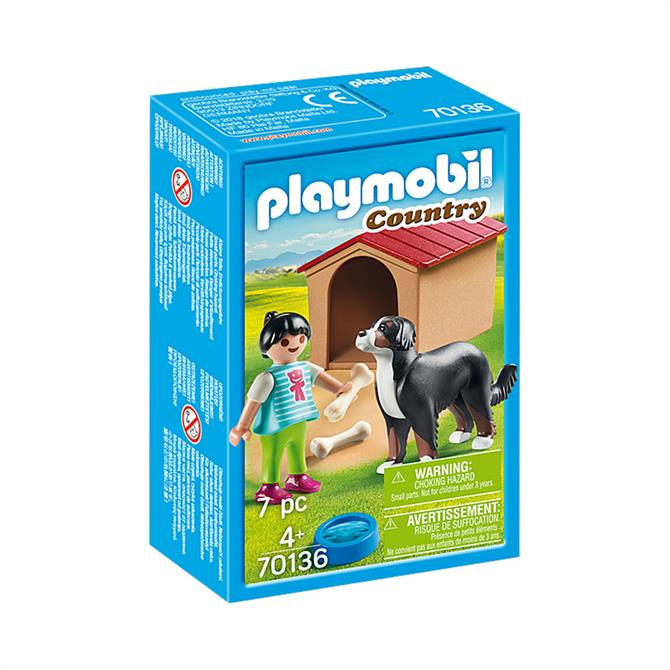 Playmobil Country Dog with Doghouse 70136