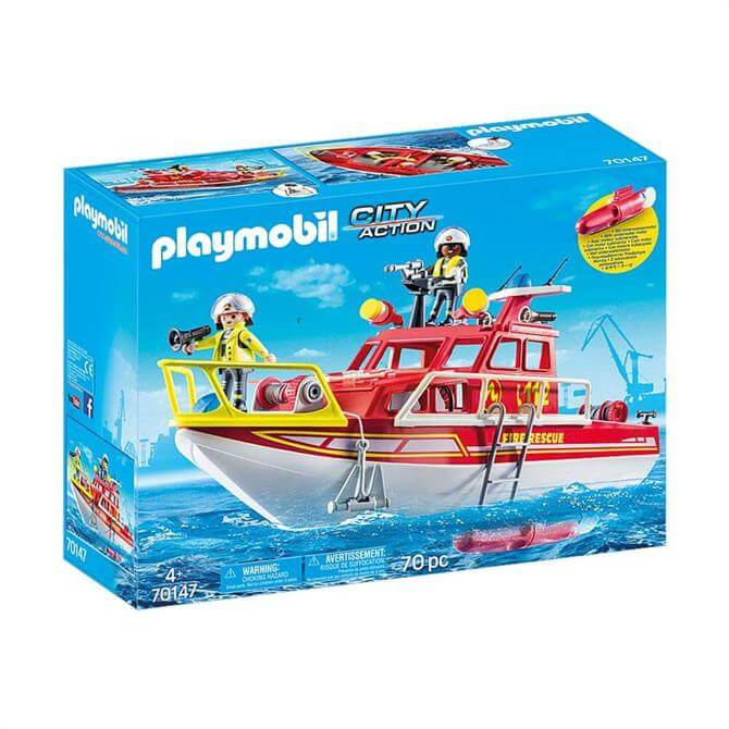 Playmobil City Action Fire Rescue Boat 70147
