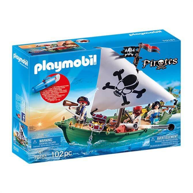 Playmobil Pirates Pirate Ship with Underwater Motor 70151