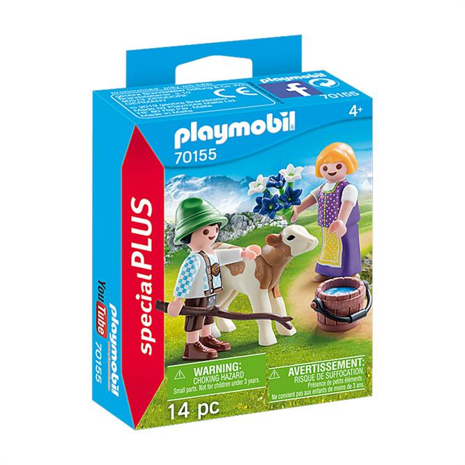 Playmobil Figures Children with Calf 70155