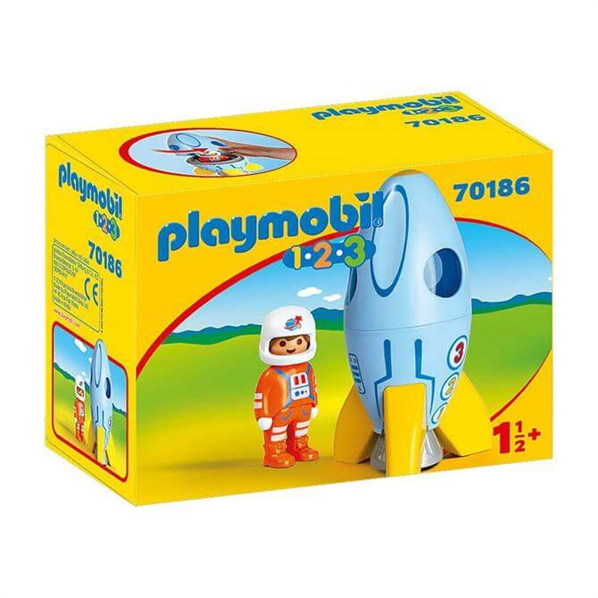 Playmobil 123 Astronaut with Rocket 70186