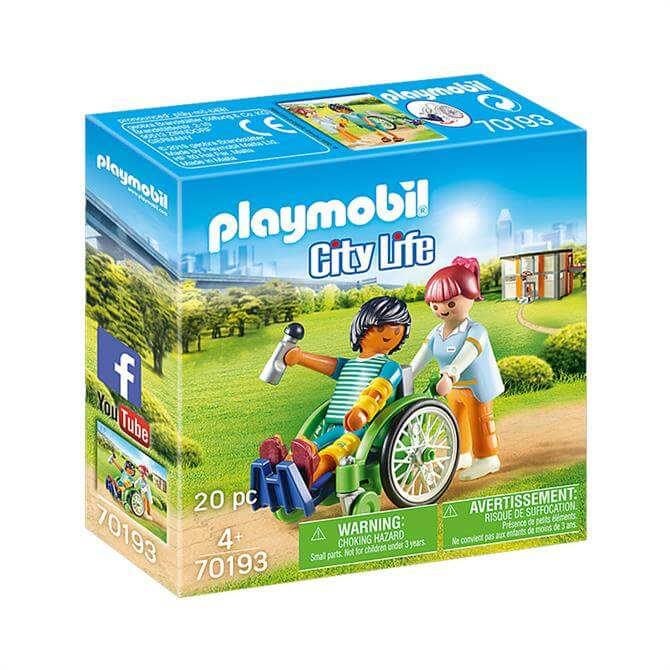 Playmobil City Life Patient in Wheelchair 70193