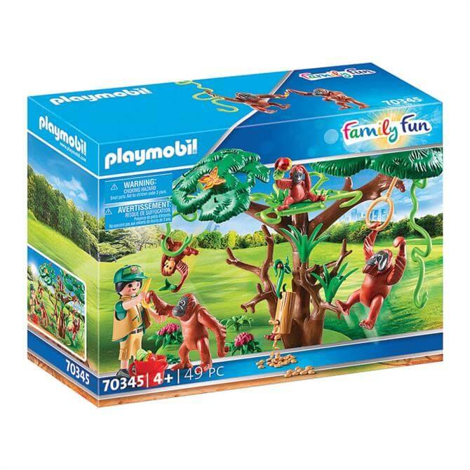 Playmobil Family Fun Orangutans with Tree Set 70345