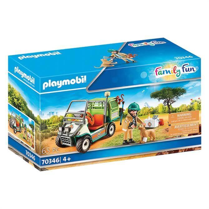 Playmobil Family Fun Zoo Vet with Medical Cart 70346