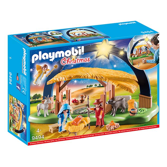 Playmobil Christmas Illuminating Nativity Manger Set 9494