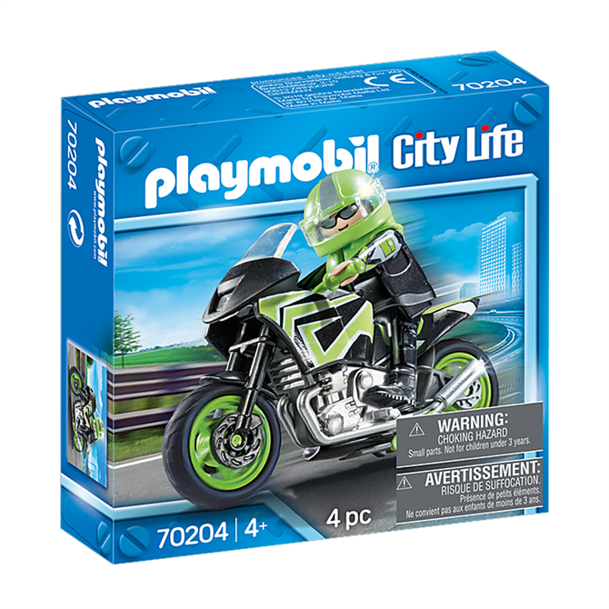 Playmobil Motorcycle with Rider Set 70204