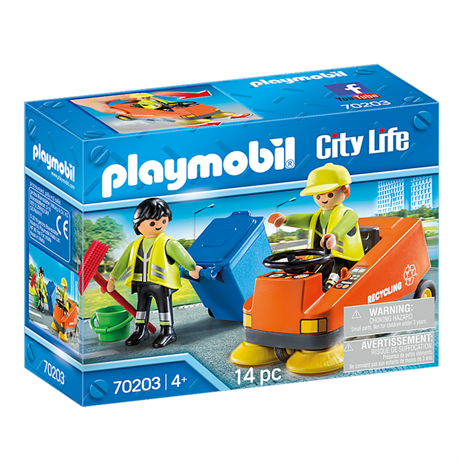 Playmobil City Life Street Sweeper Set 70203