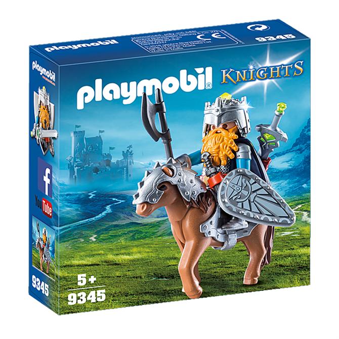 Playmobil Knights Dwarf Fighter with Pony 9345