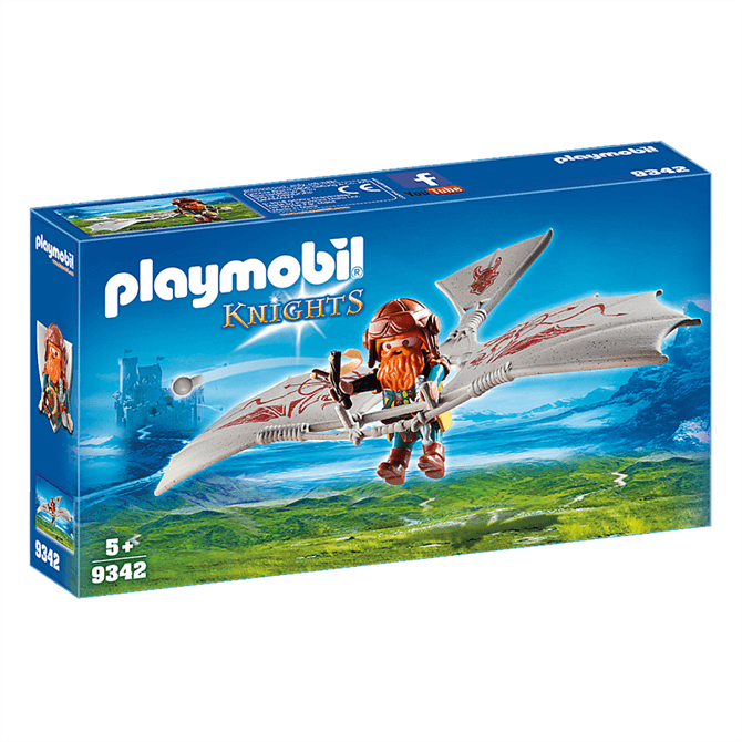 Playmobil Knights Dwarf Flyer 9342