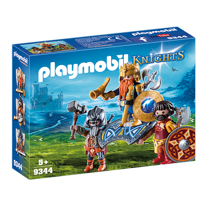 Playmobil Knights Dwarf King with Guards Set 9344