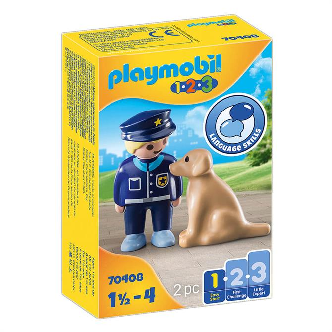 Playmobil Police Officer With Dog 70408