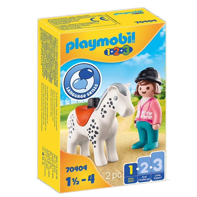 Playmobil Rider With Horse 70404