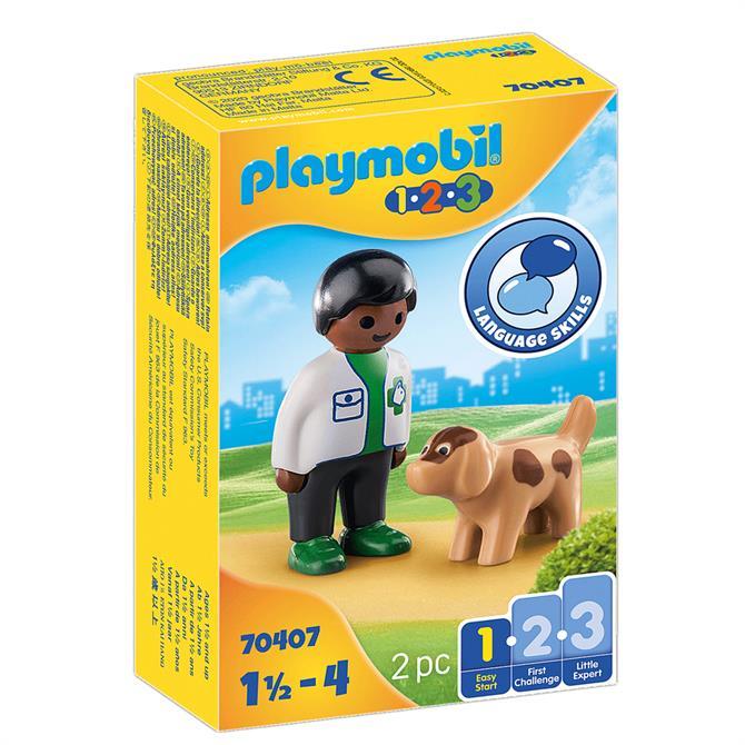 Playmobil Vet With Dog 70407